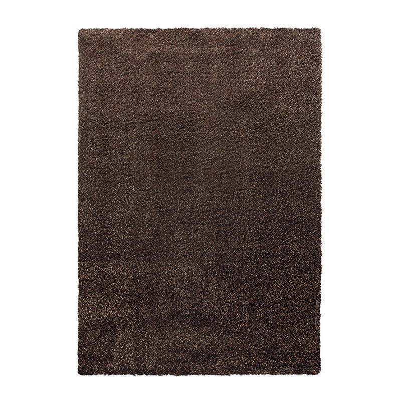 tapis esprit home shaggy cosy glamour marron 160x225. Black Bedroom Furniture Sets. Home Design Ideas