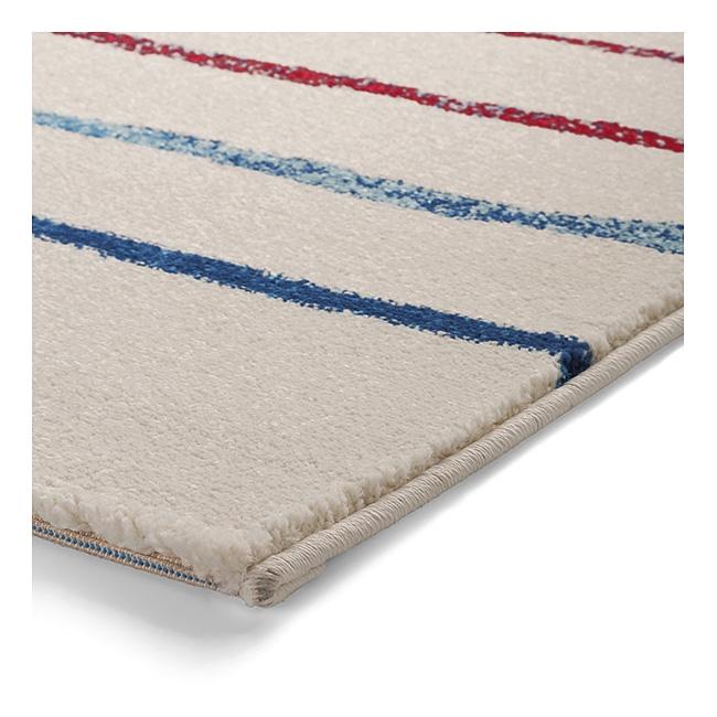 tapis joyful stripes blanc et bleu esprit home. Black Bedroom Furniture Sets. Home Design Ideas