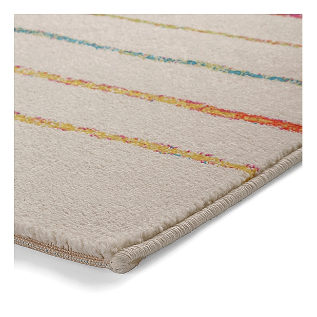 tapis blanc multicolore joyful stripes esprit home 133x200. Black Bedroom Furniture Sets. Home Design Ideas