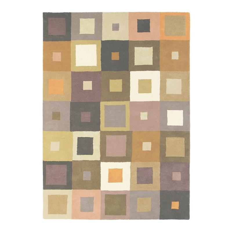tapis estella carre beige brink campman. Black Bedroom Furniture Sets. Home Design Ideas