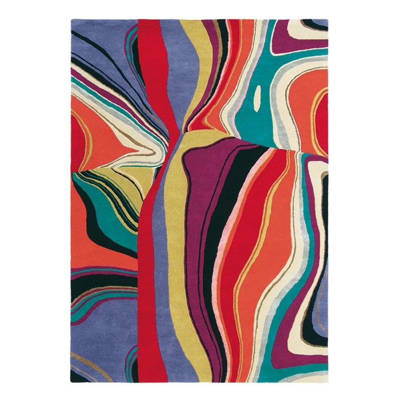 Tapis Multicolore Brink Campman Pure Laine Estella Curve 140x200