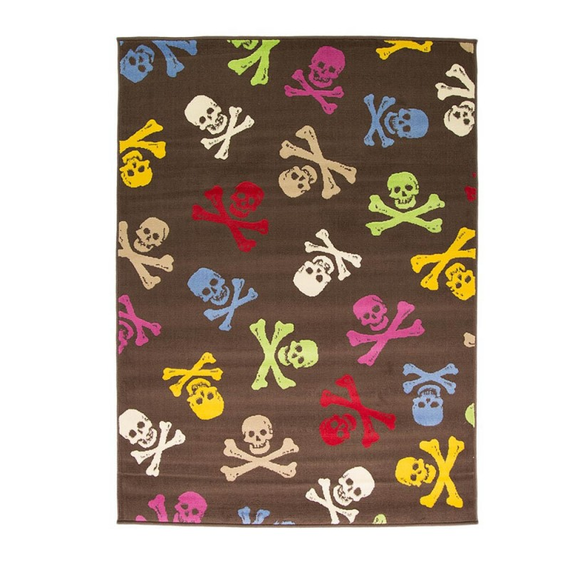 Tapis Chambre Ado Multicolore Cross Bones Flair Rugs 120x160