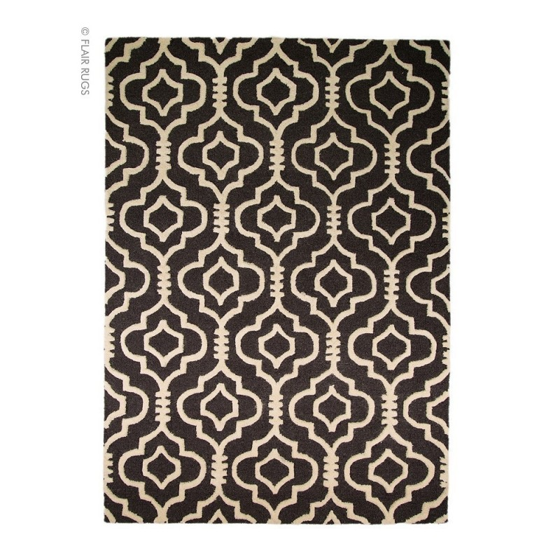 tapis laine fait main anthracite morocoo flair rugs. Black Bedroom Furniture Sets. Home Design Ideas