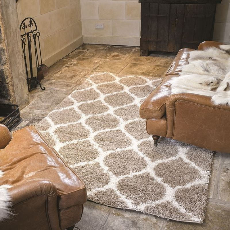 tapis shaggy beige moroccan flair rugs 80x150. Black Bedroom Furniture Sets. Home Design Ideas