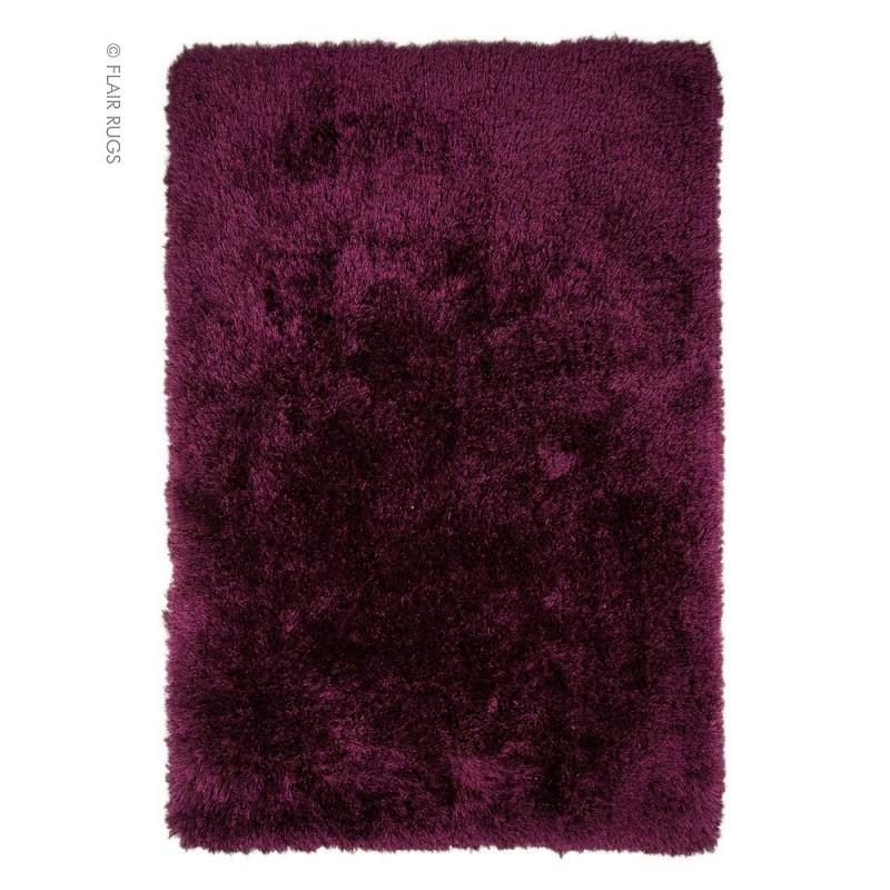 tapis shaggy tuft main violet pearl flair rugs 80x150. Black Bedroom Furniture Sets. Home Design Ideas