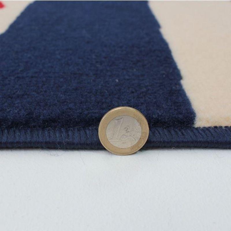 Tapis de salon rouge et bleu heart stripe flair rugs 160x225 - Tapis de salon rouge ...