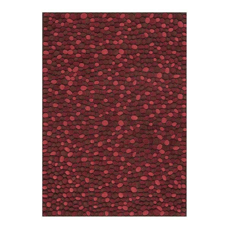 tapis laine tuft main bordeaux vitalize ligne pure. Black Bedroom Furniture Sets. Home Design Ideas