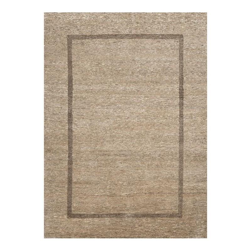 tapis laine nou main beige bordure transform ligne pure 140x200. Black Bedroom Furniture Sets. Home Design Ideas