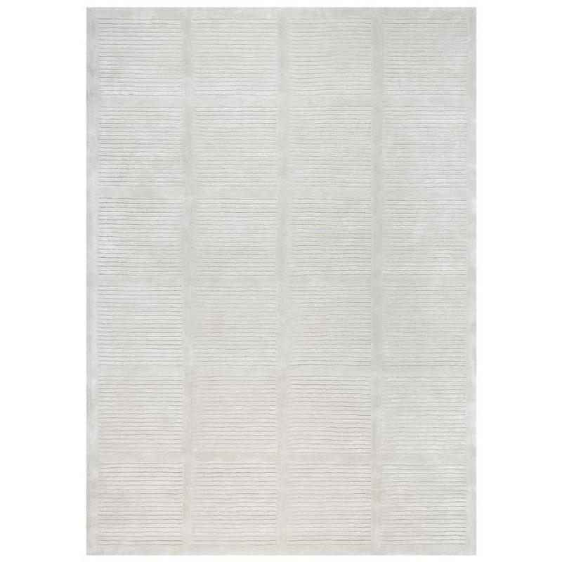 tapis laine tuft main gris reflect ligne pure 140x200. Black Bedroom Furniture Sets. Home Design Ideas