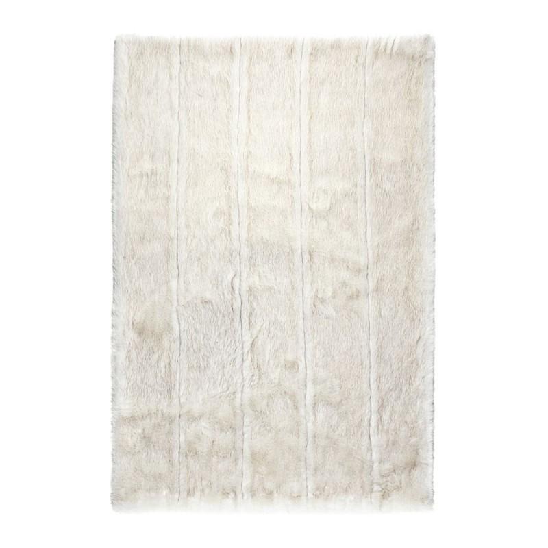 Tapis Feel Blanc Fausse Fourrure Ligne Pure 190x300