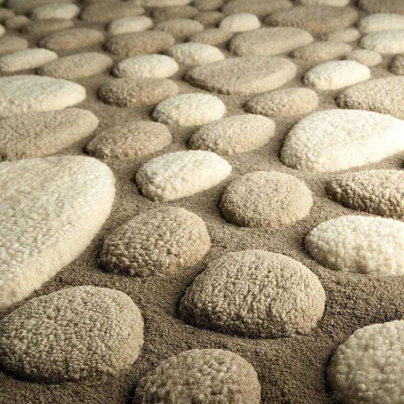 tapis laine tuft main beige vitalize ligne pure. Black Bedroom Furniture Sets. Home Design Ideas