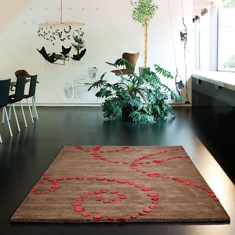tapis vitalize ligne pure laine tuft main chocolat 200x300. Black Bedroom Furniture Sets. Home Design Ideas
