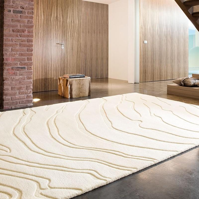 tapis tuft main beige create ligne pure 140x200. Black Bedroom Furniture Sets. Home Design Ideas
