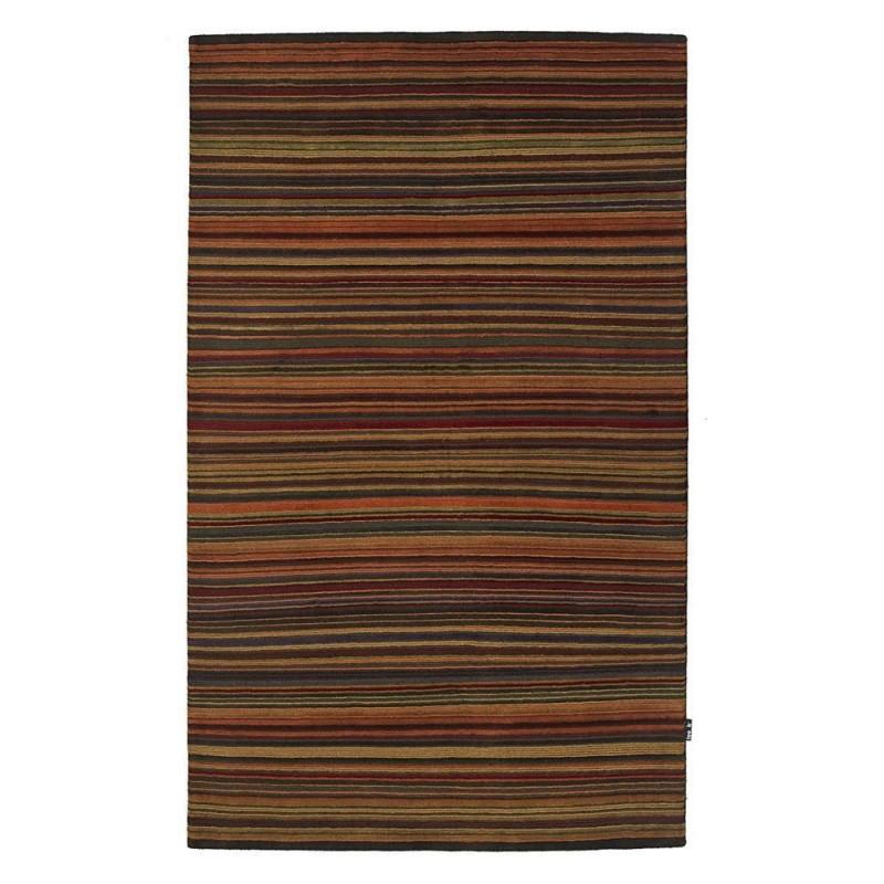 Tapis en laine nou main multicolore 401 loook 140x200 - Tapis laine multicolore ...