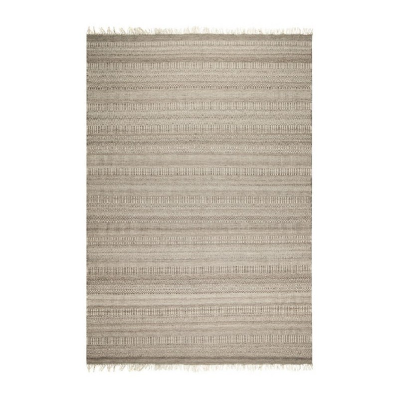... Tapis modernes u203a Tapis kilim en laine filu00e9 main gris 407 LOOOK