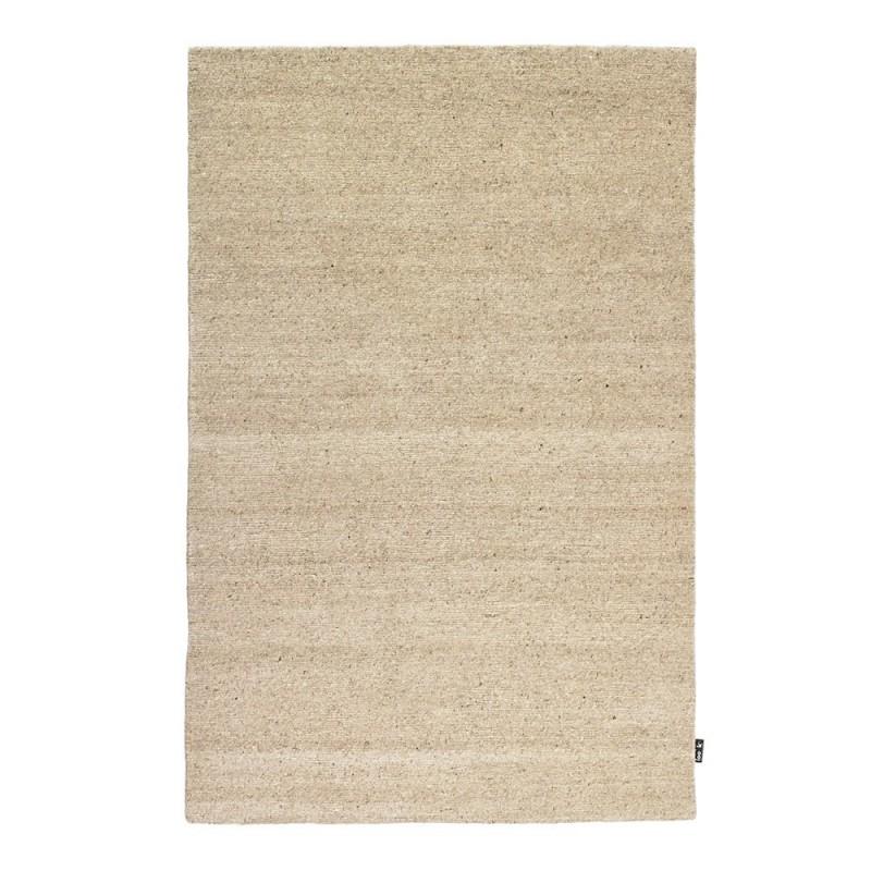 Tapis uni en laine nou main beige 418 loook 140x200 - Tapis classique laine ...