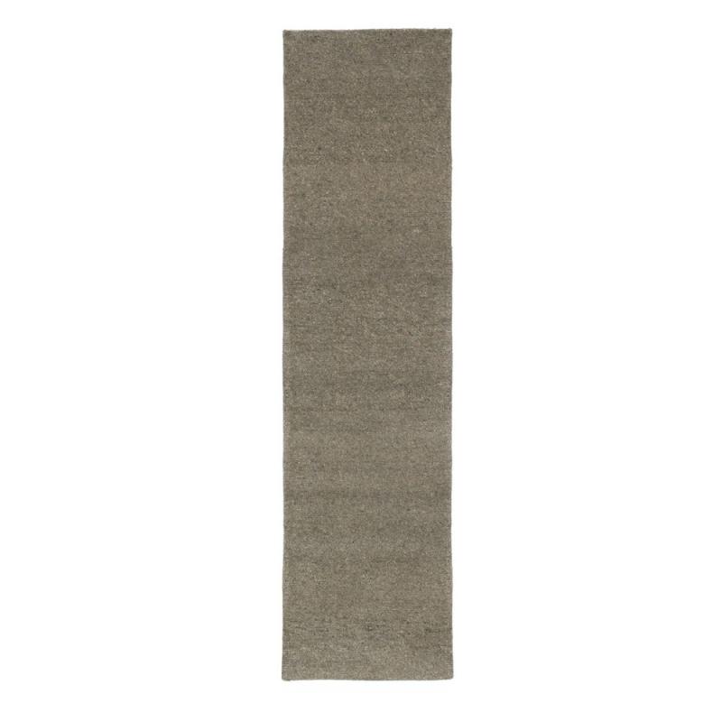 Tapis de couloir en laine nou main gris 418 loook 70x200 - Couloir gris taupe ...