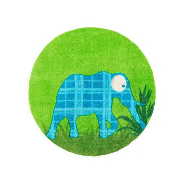 tapis enfant enfant elephant vert 60x60. Black Bedroom Furniture Sets. Home Design Ideas