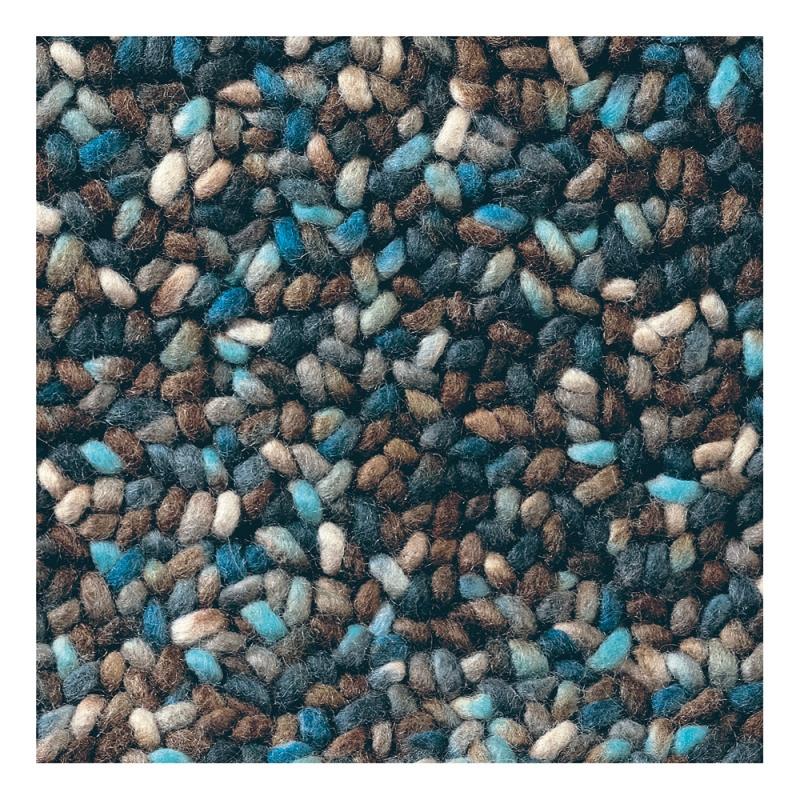 tapis pure laine vierge stone bleu et marron brink campman. Black Bedroom Furniture Sets. Home Design Ideas
