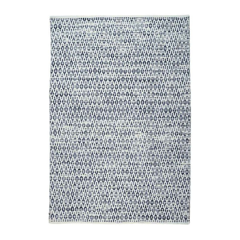 tapis bedford bleu fait main the rug republic 160x230. Black Bedroom Furniture Sets. Home Design Ideas