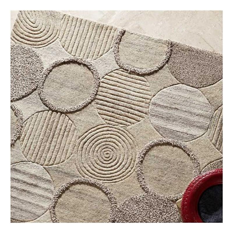 tapis en laine beige tuft main cameron the rug republic 160x230. Black Bedroom Furniture Sets. Home Design Ideas