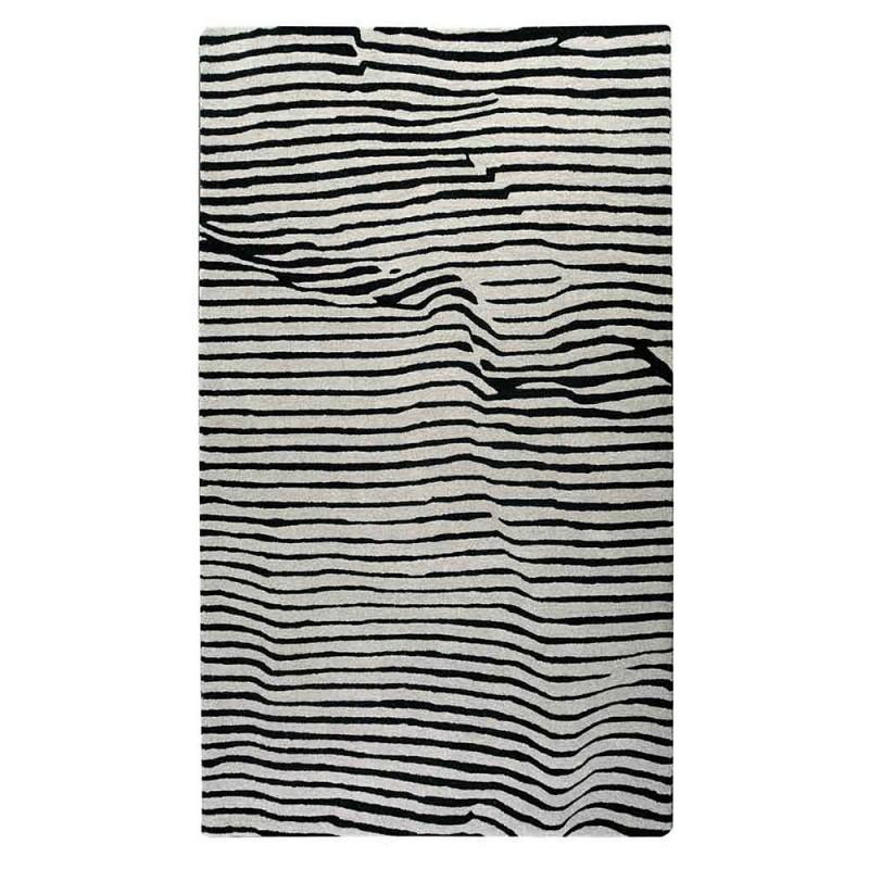 tapis tuft main crumple noir the rug republic 160x230. Black Bedroom Furniture Sets. Home Design Ideas