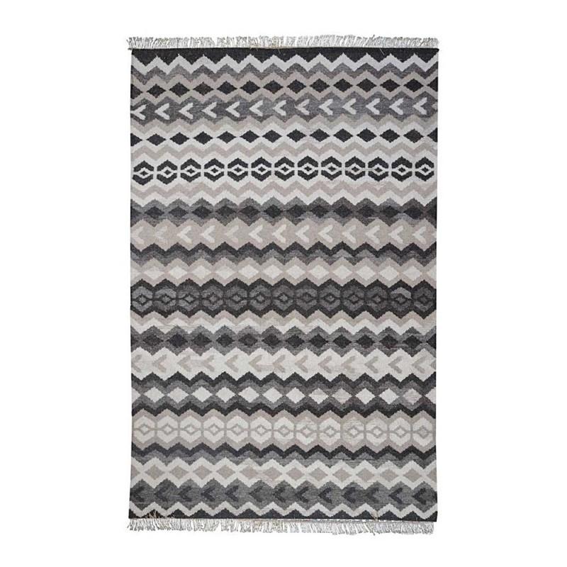 tapis kilim fait main monk beige et noir the rug republic. Black Bedroom Furniture Sets. Home Design Ideas