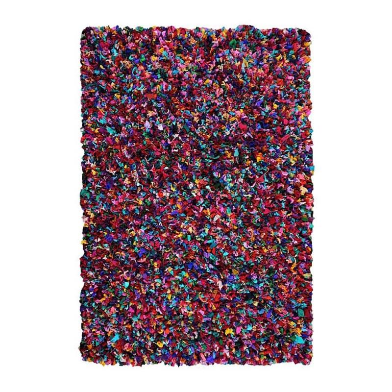 tapis en coton multicolore the rug republic rockon shaggy tiss main 160x230. Black Bedroom Furniture Sets. Home Design Ideas