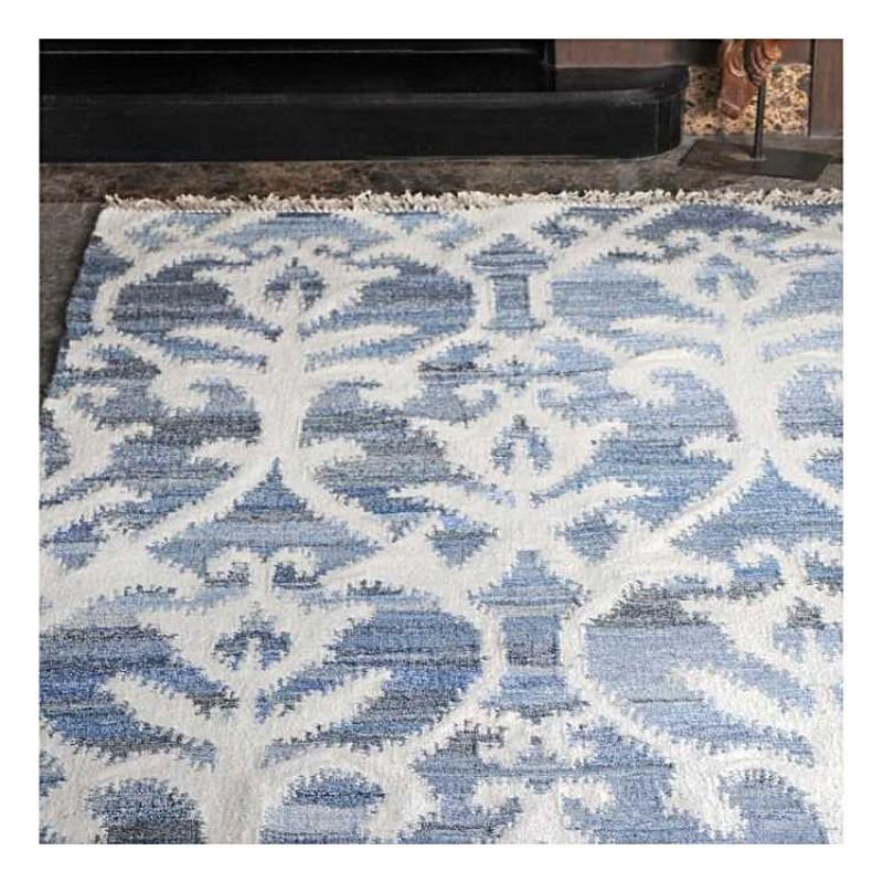 tapis kilim fait main vivian bleu the rug republic 160x230. Black Bedroom Furniture Sets. Home Design Ideas