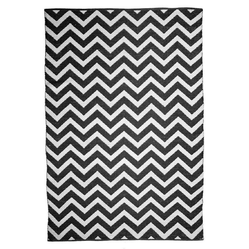 tapis motif chevron noir et blanc zen the rug republic 160x230. Black Bedroom Furniture Sets. Home Design Ideas