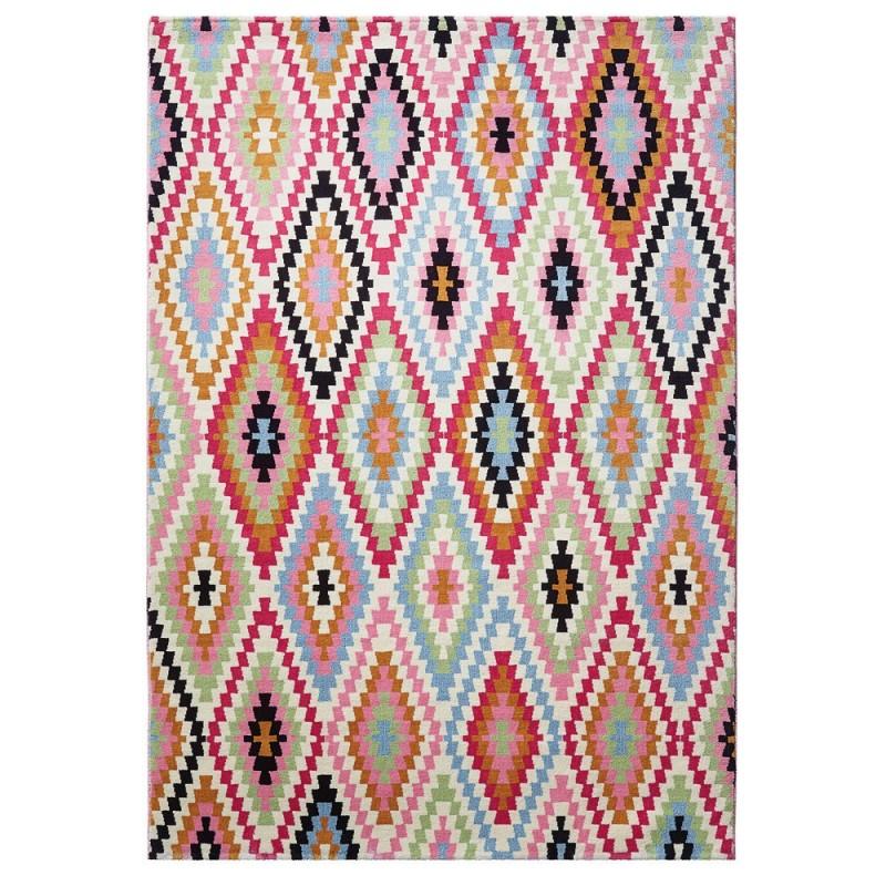 tapis fresh kilim multicolore rose 80x150 esprit home. Black Bedroom Furniture Sets. Home Design Ideas