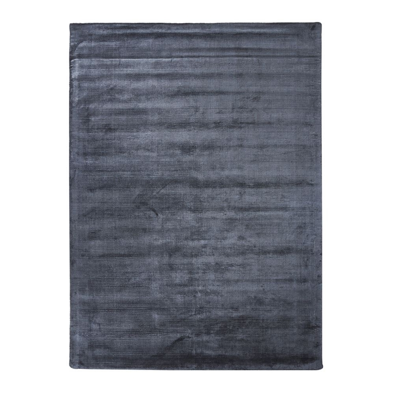 tapis en viscose bleu harold home spirit 60x110. Black Bedroom Furniture Sets. Home Design Ideas