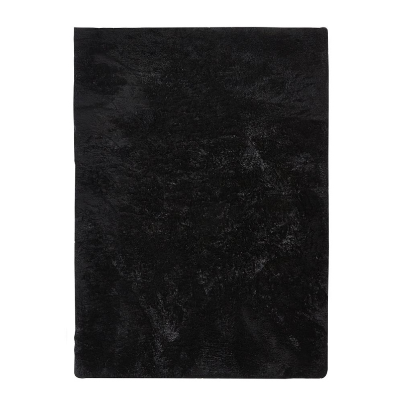 tapis shaggy vision noir home spirit. Black Bedroom Furniture Sets. Home Design Ideas