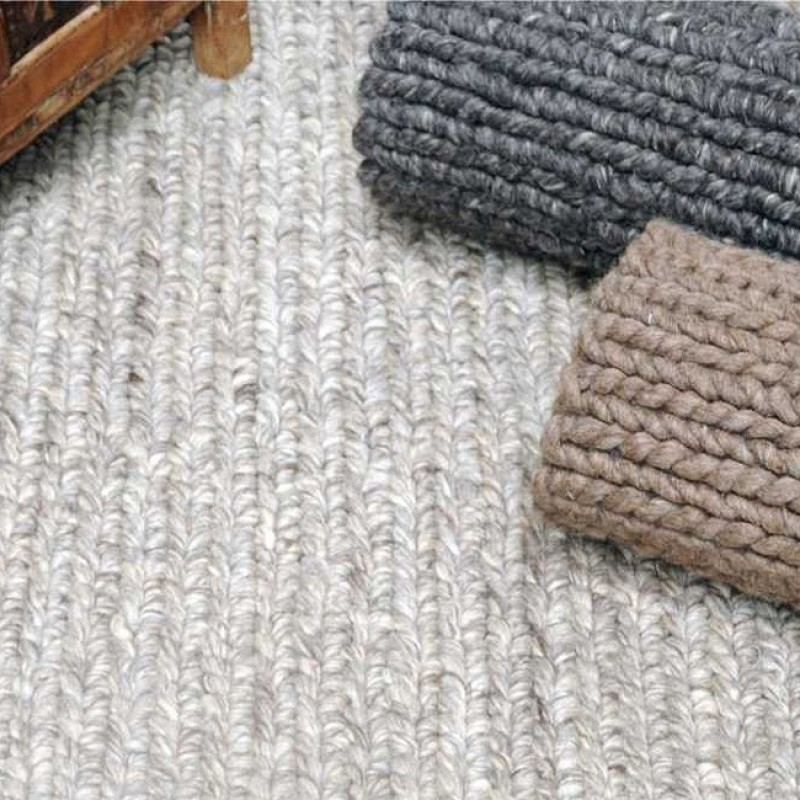 tapis fait main zanos gris clair the rug republic. Black Bedroom Furniture Sets. Home Design Ideas
