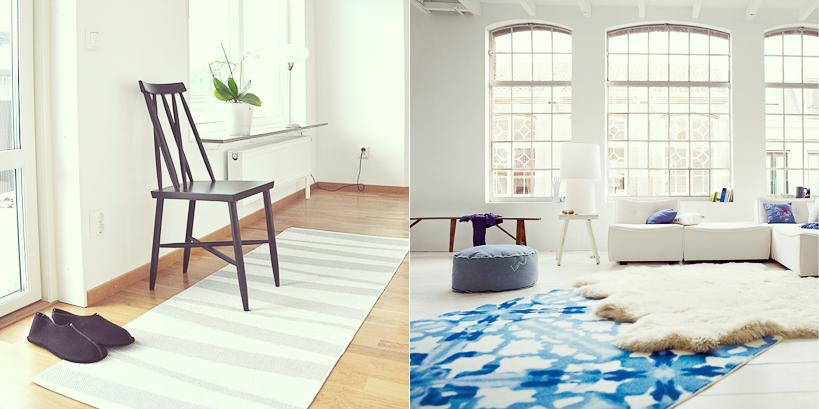 comment int grer un tapis une d co scandinave. Black Bedroom Furniture Sets. Home Design Ideas