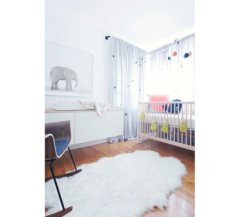 Inspiration d co chambre b b for Tapis rose chambre bebe